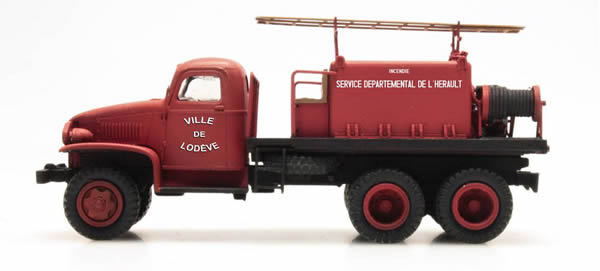 REE Modeles CB-082 - GMC C.C.F.L Tank Truck for Forest Fire Froger Steel Cabin LODEVE