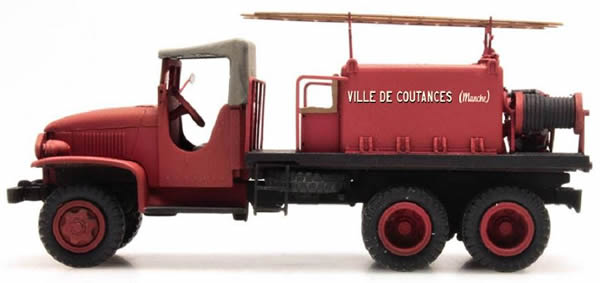 REE Modeles CB-083 - GMC C.C.F.L Tank Truck for Forest Fire Froger Steel Canvas COUTANCES