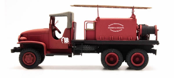 REE Modeles CB-084 - GMC C.C.F.L Tank Truck for Forest Fire Froger Steel Canvas CHARENTE MARITIME