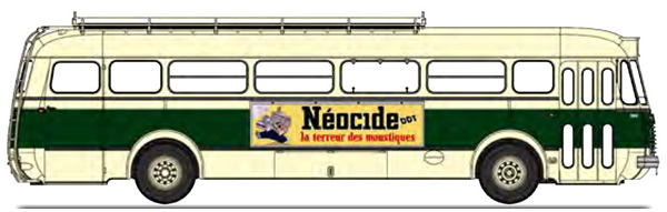 REE Modeles CB-127 - BUS R4190 Green and Cream SGTD - Publicity Néocide - (75)