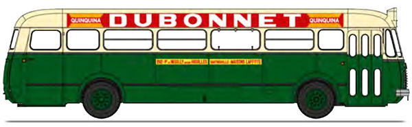 REE Modeles CB-129 - BUS R4190 Green and Cream RATP Line 262 Publicity Dubonnet (75)