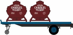 REE Modeles FB-003 - French Flat Trailer with 2 container loads  LOUIS CHARLES