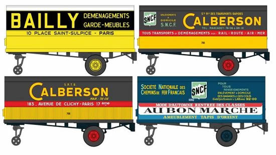 REE Modeles FB-006 - French 4pc Trailer Set of the SNCF