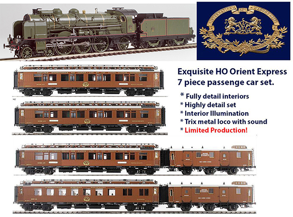 REE Modeles MB-0321s - Ree Models Hobbytrain 1920s Orient Exress Set