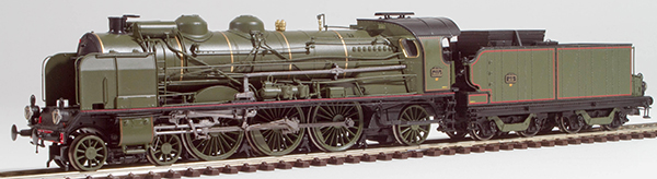 REE Modeles MB-032S - French Steam Locomotive 231 D 52 of the PLM (DCC Sound Decoder & Smoke)