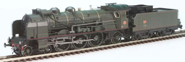 REE Modeles MB-037S - French Steam Locomotive Class 231 of the SNCF DIJON (DCC Sound Decoder  + Steam)