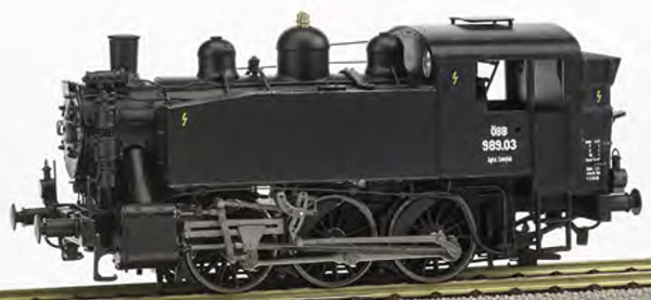 REE Modeles MB-043 - Austrian Steam Locomotive Class 030 TU OBB 989.03 - ANALOG DC
