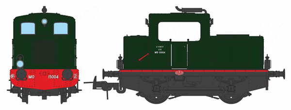 REE Modeles MB-050S - French Diesel Locomotive M015-A-01 of the SNCF MOYSE Origin (DCC Sound Decoder)