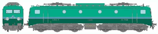 REE Modeles MB-057 - French Electric Locomotive Class CC-7126 RG of the SNCF - Depot Avignon