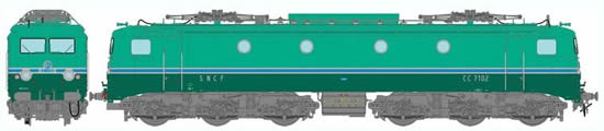 REE Modeles MB-058 - French Electric Locomotive Class CC-7102 RG of the SNCF - Depot Avignon