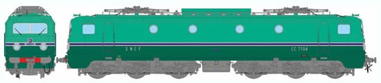 REE Modeles MB-060S - French Electric Locomotive Class CC 7104 of the SNCF Depot PARIS SO (DCC Sound Decoder)
