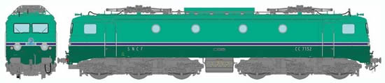 REE Modeles MB-061 - French Electric Locomotive Class CC-7132 GRG of the SNCF - Depot Avignon