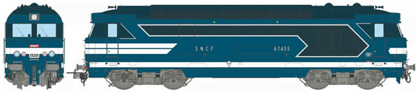 REE Modeles MB-063S - French Diesel Locomotive Class BB 67455 of the SNCF Depot NIMES (DCC Sound Decoder)