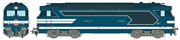 REE Modeles MB-067S - French Diesel Locomotive Class BB 67624 of the SNCF Depot LIMOGES (DCC Sound Decoder)