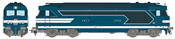 REE Modeles MB-068S - French Diesel Locomotive Class BB 67552 of the SNCF NEVERS, without skirt, Number Plate, Era IV-V -