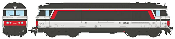 REE Modeles MB-070 - French Diesel Locomotive Class BB 167 445 Depot BORDEAUX