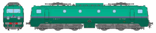 REE Modeles MB-076S - French Electric Locomotive CC-7107 of the SNCF ORIGIN South West PARIS SUD-QUEST (DCC Sound Decoder)