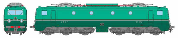 REE Modeles MB-077S - French Electric Locomotive CC-7121 of the SNCF ORIGIN Southeast PARIS LYON (DCC Sound Decoder)