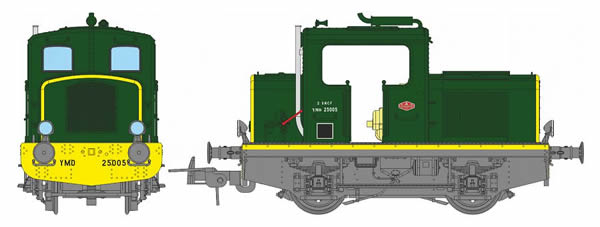 REE Modeles MB-078S - French Diesel Locomotive M015-E-01 of the SNCF Origin MOYSE (DCC Sound Decoder)