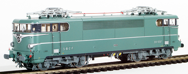 REE Modeles MB-081SAC - French Electric Locomotive Class BB 9267 of the SNCF original green livery, Lyon-Mouche, Plate MIST