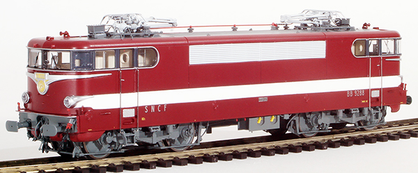 REE Modeles MB-082 - French Electric Locomotive Class BB 9288 of the SNCF Red Color LE CAPITOLE, Era IV - ANALOG DC
