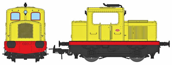 REE Modeles MB-093 - French Diesel Shunting Locomotive Class MOYSE 32 TDE, Industrial YELLOW, No Lihgt Era III to V - AN