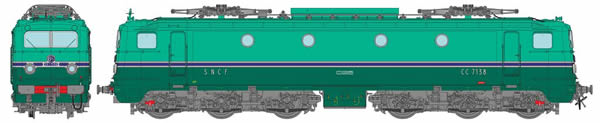 REE Modeles MB-106S - French Electric Locomotive CC 7138 of the SNCF Depot CHAMBERY (DCC Sound Decoder)