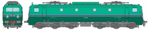 REE Modeles MB-107 - French Electric Locomotive CC 7124 of the SNCF Depot CHAMBERY
