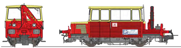 REE Modeles MB-109S - French Maintenace Vehicle Class DU65 6 049 WEST, with CRANE, cream roof, Era IV-V - DCC Sound