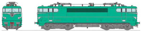 REE Modeles MB-140 - French Electric Locomotive Class BB 16005 original green liveral model, STRASBOURG depot, Era III -