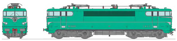REE Modeles MB-140S - French Electric Locomotive Class BB 16005 original green liveral model, STRASBOURG depot Era III -