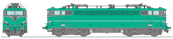 REE Modeles MB-142S - French Electric Locomotive Class BB 16019 Green with embellishers, Era III, LA CHAPELLE - DCC Sound