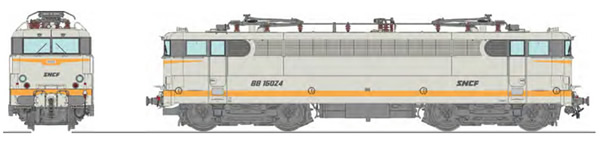 REE Modeles MB-143SAC - French Electric Locomotive Class BB 16024 Grey livery downstroke SNCF logo, Preserved loco - AC Sou
