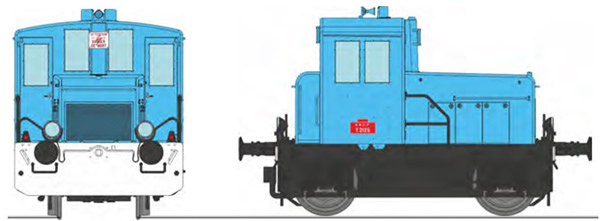 REE Modeles MB-149S - French Shunting Locomotive Class Y 2126 Industrial plant shunter blue, white front beam, black fram