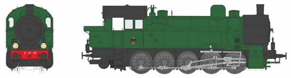 REE Modeles MBE-005 - French Steam Locomotive Class T16 of the PLM, Era II - DCC/AC Sound, Functionnel Couplers & Dynamic