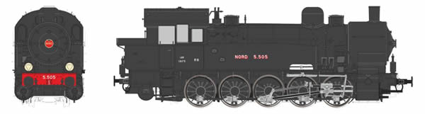 REE Modeles MBE-007 - French Steam Locomotive Ex T-16 Allemande NORD 5.505 (DCC Sound Decoder)