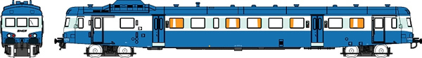 REE Modeles NW-036 - French 1st / 2nd Class Railcar X-2908 Noodle of the SNCF - Depot: LIMOGES