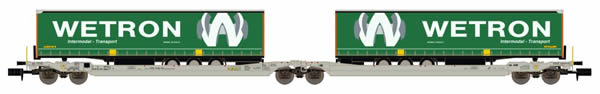 REE Modeles NW-091 - Sdggmrs T AAE Cargo HUPAC intermodal + 2 trailers WETRON