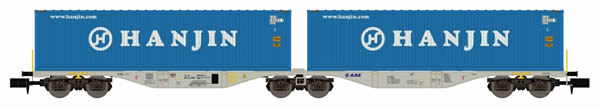 REE Modeles NW-101 - Flat Car Sggrss 80 with Container Loads HANJIN