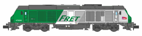 REE Modeles NW-112 - French Diesel Locomotive FRET BB-475058 of the SNCF
