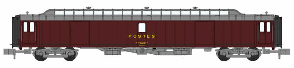 REE Modeles NW-124 - Post Wagon OCEM 21.6 m Sill gray roof bogie Y24 bellows