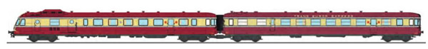 REE Modeles NW-162 - French RGP Railcar 1 red TEE with 2 light and light corner, Era III X-2776 + Car XR-7776- 7776 NOIS