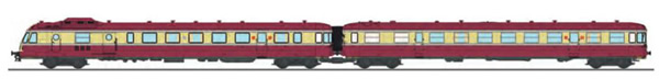 REE Modeles NW-163 - French RGP Railcar 1 red SNCF with 2 light and light corner, Era III X-2779 + Car XR-7779 LYON-VAIS