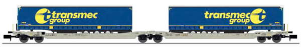 REE Modeles NW-182 - Twin car Sdggmrs AAE Cargo + 2 trailers TRANSMEC Group – Era V-VI