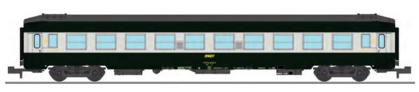 REE Modeles NW-188 - UIC SLEEPING CAR High roof with grey color, Green-Alu 160 color Era IV