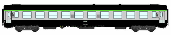 REE Modeles VB-071 - 2nd Class French Passenger Coach B10 Green scrubland 302