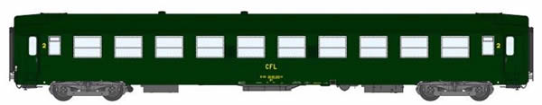REE Modeles VB-104 - 2nd Class French Passenger Coach B10 Celtic Green 301