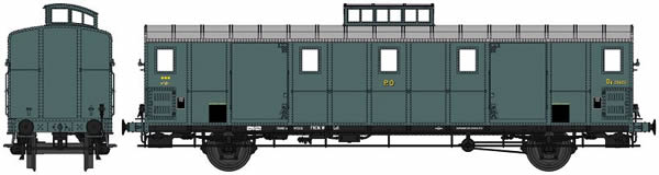 REE Modeles VB-108S - Luggage wagon type OCEM 30 - Digital Doors
