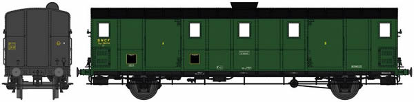 REE Modeles VB-111S - French Luggage Car OCEM 29 of the SNCF - Digital Doors