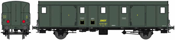 REE Modeles VB-115S - French Luggage Car OCEM 29 of the SNCF - Digital Doors